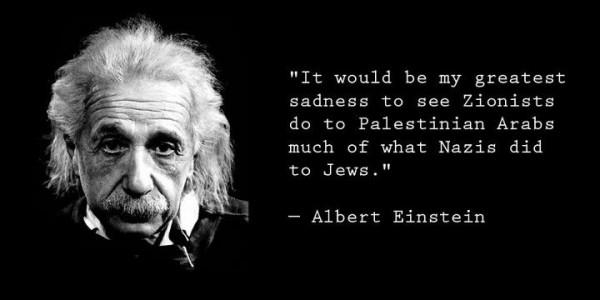 Einstein Zionists & Palestinians